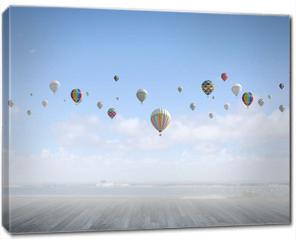 Obraz na płótnie canvas - Flying aerostats