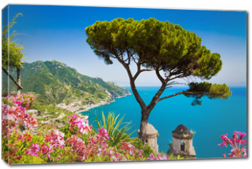 Obraz na płótnie canvas - Postcard view of Amalfi Coast, Ravello, Campania, Italy