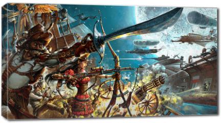 Obraz na płótnie canvas - Steampunk forever, background for your desktop