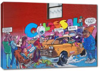 Obraz na płótnie canvas - Graffiti in the city New York