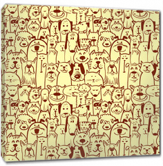 Obraz na płótnie canvas - dogs and cats