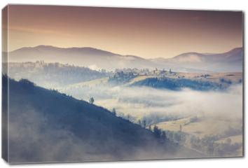 Obraz na płótnie canvas - morning mountain