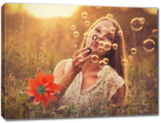 Obraz na płótnie canvas - Sunset bubbles