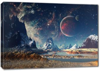 Obraz na płótnie canvas - Alien Planet - 3D rendered computer artwork