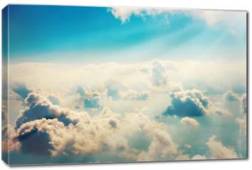 Obraz na płótnie canvas - Blue clouds and sky