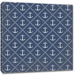 Obraz na płótnie canvas - Anchor seamless pattern