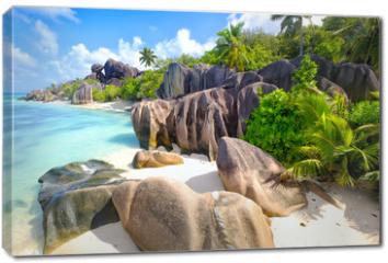 Obraz na płótnie canvas - Anse Source d'Argent beach, La Digue Island, Seyshelles