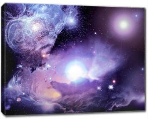 Obraz na płótnie canvas - Fantasy Space Nebula