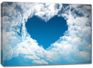 Obraz na płótnie canvas - Heart on the sky