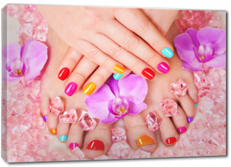 Obraz na płótnie canvas - Beautiful manicure and pedicure