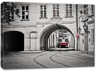 Obraz na płótnie canvas - Red tram