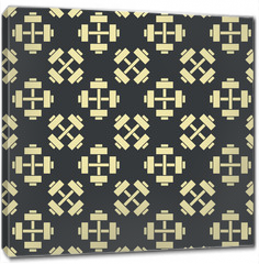 Obraz na płótnie canvas - Retro vector gym seamless pattern