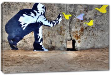 Obraz na płótnie canvas - Graffiti liberté