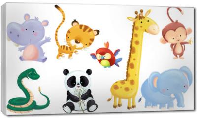 Obraz na płótnie canvas - animales salvajes bebe