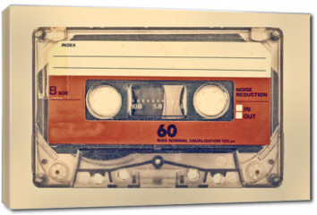 Obraz na płótnie canvas - Retro styled image of an old compact cassette