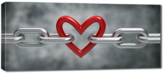 Obraz na płótnie canvas - Chain with heart