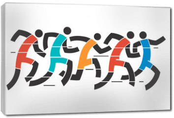 Obraz na płótnie canvas - Running race