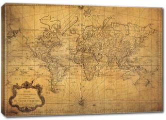 Obraz na płótnie canvas - vintage map of the world 1778