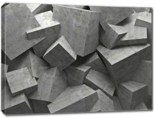 Obraz na płótnie canvas - cubes wall