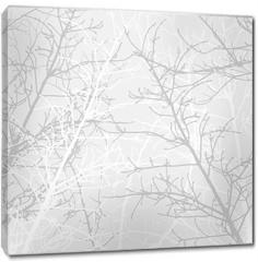 Obraz na płótnie canvas - Branches texture pattern. Soft background.
