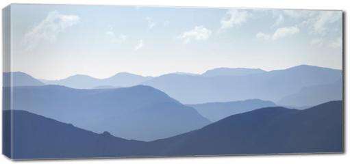 Obraz na płótnie canvas - Cold light of day over the Scottish Highlands.