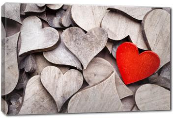 Obraz na płótnie canvas - Rustic heart.