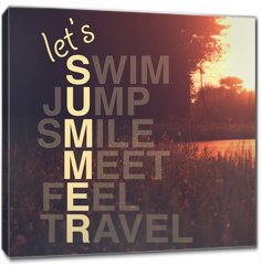 Obraz na płótnie canvas - Summer activity quote