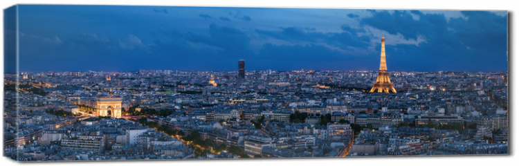 Obraz na płótnie canvas - Paris à l'heure bleue