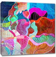 Obraz na płótnie canvas - abstract watercolor background