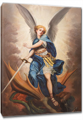 Obraz na płótnie canvas - Tel Aviv - paint of archangel Michael from st. Peters church
