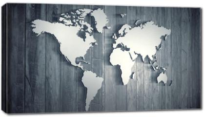 Obraz na płótnie canvas - World map