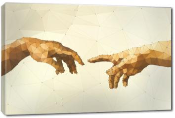 Obraz na płótnie canvas - Abstract God's hand vector illustration