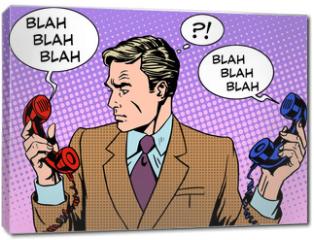Obraz na płótnie canvas - Spam phone bad call business communications businessman work