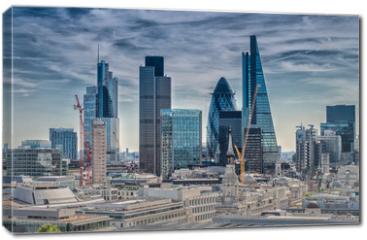 Obraz na płótnie canvas - London City. Modern skyline of business district