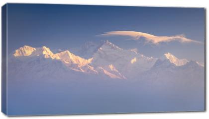 Obraz na płótnie canvas - Kanchenjunga range peak