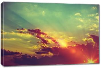 Obraz na płótnie canvas - Sunset Scenery Background