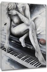 Obraz na płótnie canvas - Liebespiano