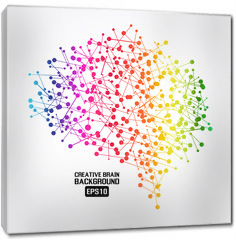 Obraz na płótnie canvas - Creative brain colorful background