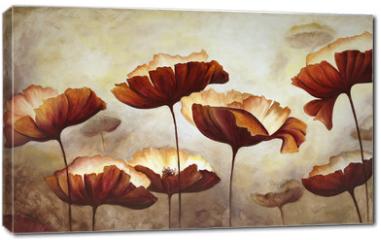 Obraz na płótnie canvas - Painting poppies canvas