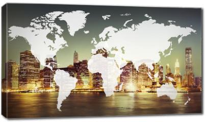 Obraz na płótnie canvas - World Global Cartography Globalization Earth International Conce