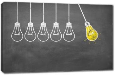 Obraz na płótnie canvas - Lampen / Idee / Konzept