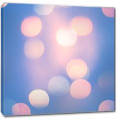 Obraz na płótnie canvas - Blurred Blue Pastel Color Lights. Bright festive background