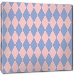 Obraz na płótnie canvas - Rose quartz and serenity rhombus backdrop. Vector illustration. Seamless pattern.