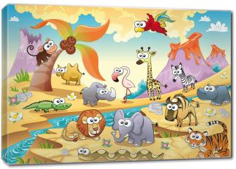 Obraz na płótnie canvas - Zwierzęta sawanny