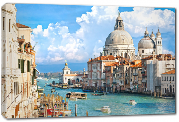 Obraz na płótnie canvas - Wenecja, widok na canal grande i bazylikę santa maria della salute