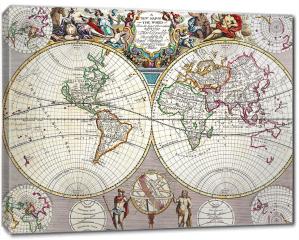 Obraz na płótnie canvas - Stara mapa