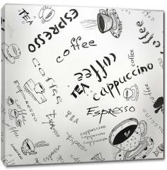 Obraz na płótnie canvas - Szkic kawy