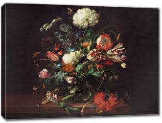 Obraz na płótnie canvas - Vase of flowers - Jan Davidsz de Hee