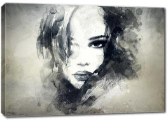 Obraz na płótnie canvas - abstract  woman portrait