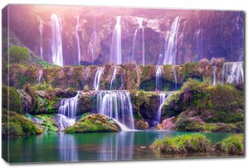 Obraz na płótnie canvas - Jiulong waterfall in Luoping, China.